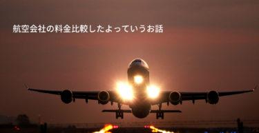 【航空券の料金比較】鹿児島から羽田へ。格安航空の比較。実際の料金はどうなのか?