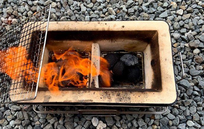 ダイソー豆炭 着火