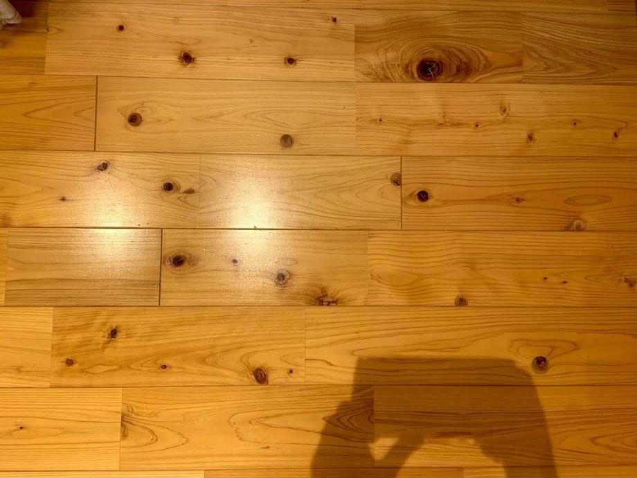 檜(ヒノキ)の床