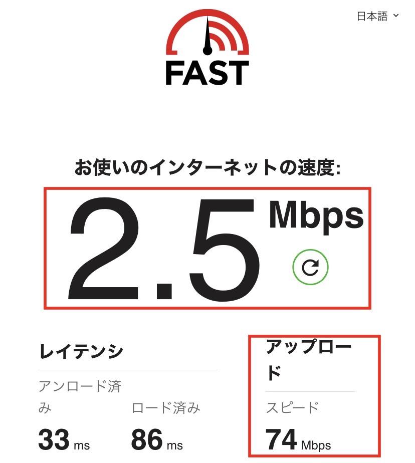 楽天ひかり速度IPv4